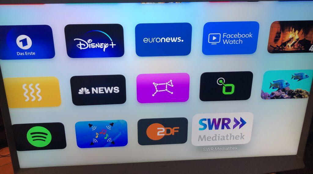 Medienübersicht als App gallery